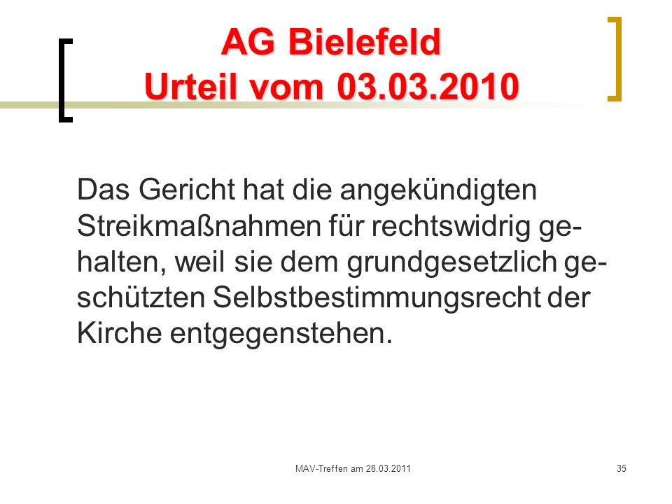 AG Bielefeld Urteil vom 03.03.2010
