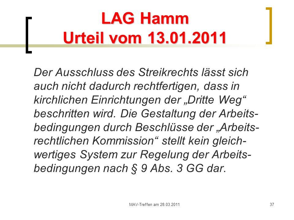 LAG Hamm Urteil vom 13.01.2011