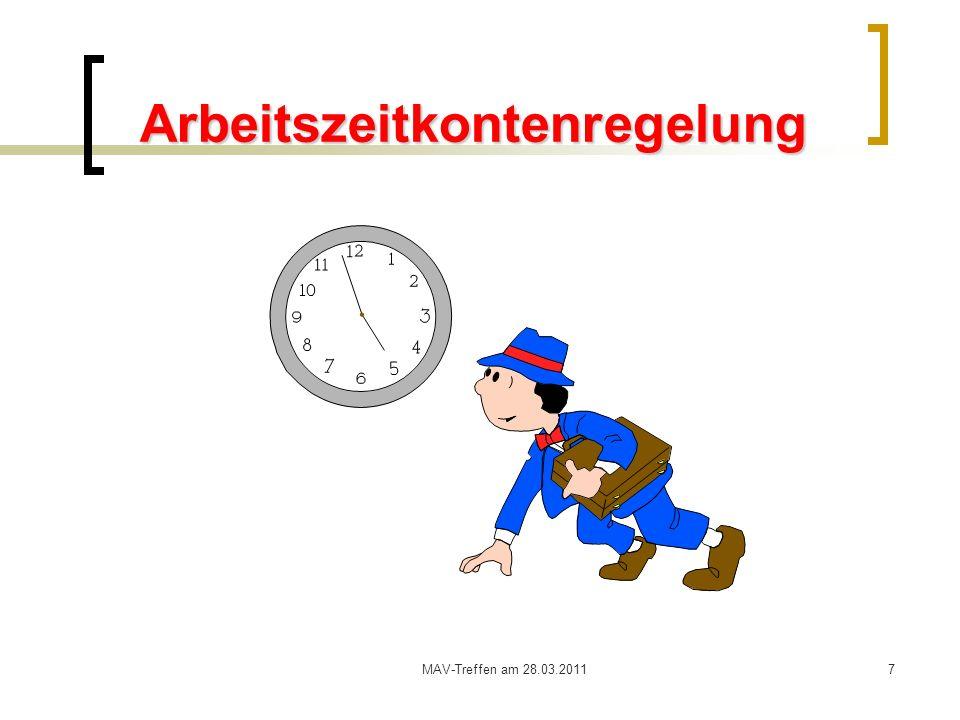 Arbeitszeitkontenregelung