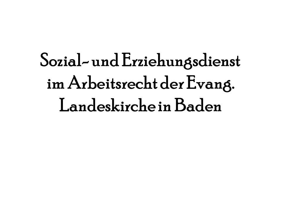 Sozial- und Erziehungsdienst im Arbeitsrecht der Evang