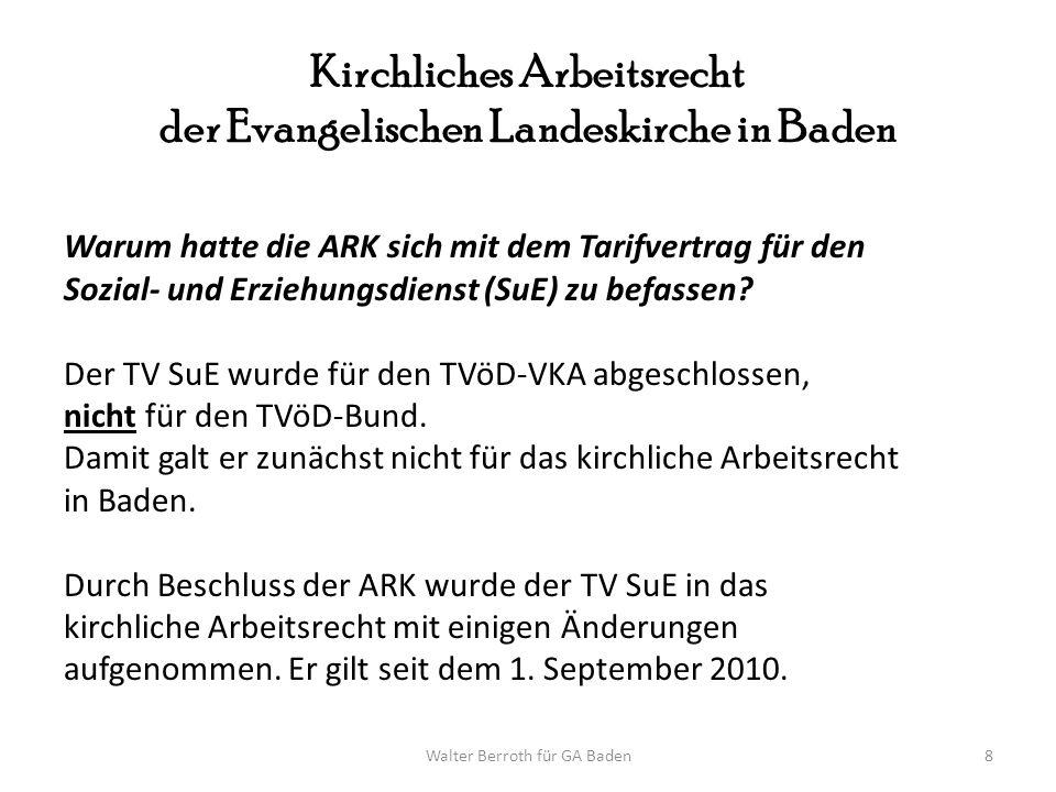 Kirchliches Arbeitsrecht der Evangelischen Landeskirche in Baden
