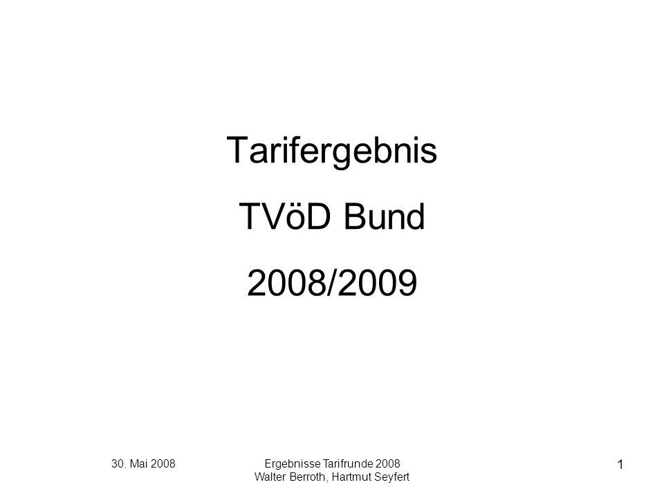 Tarifergebnis TVöD Bund 2008/2009