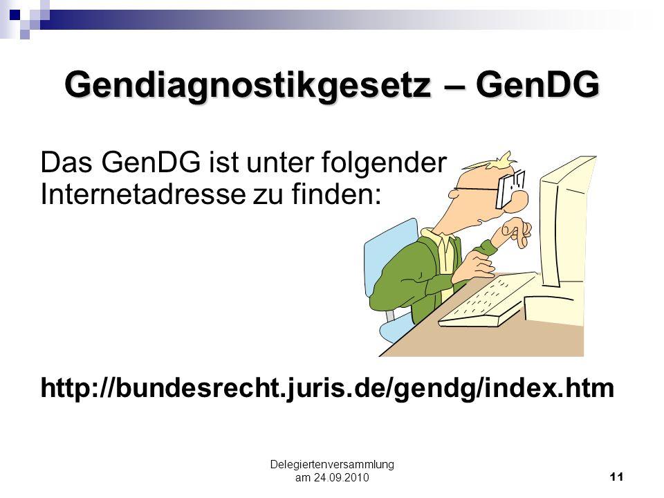 Gendiagnostikgesetz – GenDG