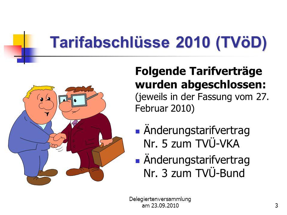 Tarifabschlüsse 2010 (TVöD)