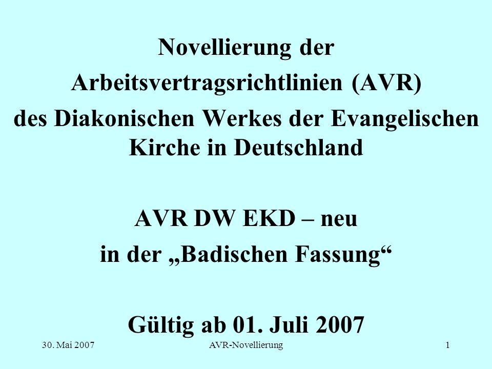 Arbeitsvertragsrichtlinien (AVR)