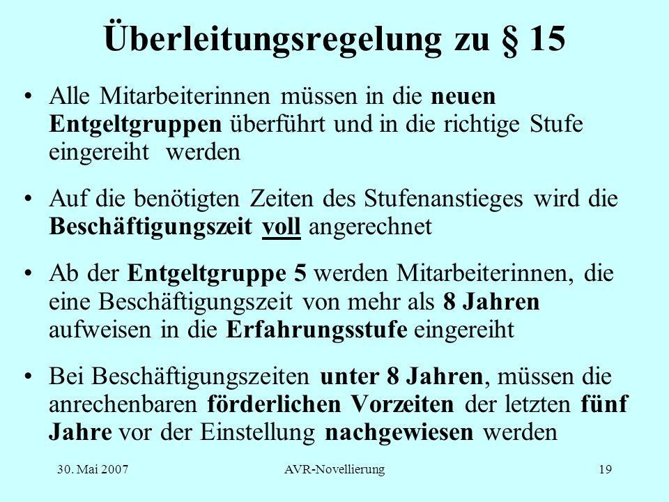 Überleitungsregelung zu § 15