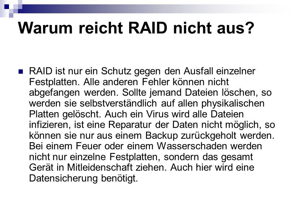 Warum reicht RAID nicht aus