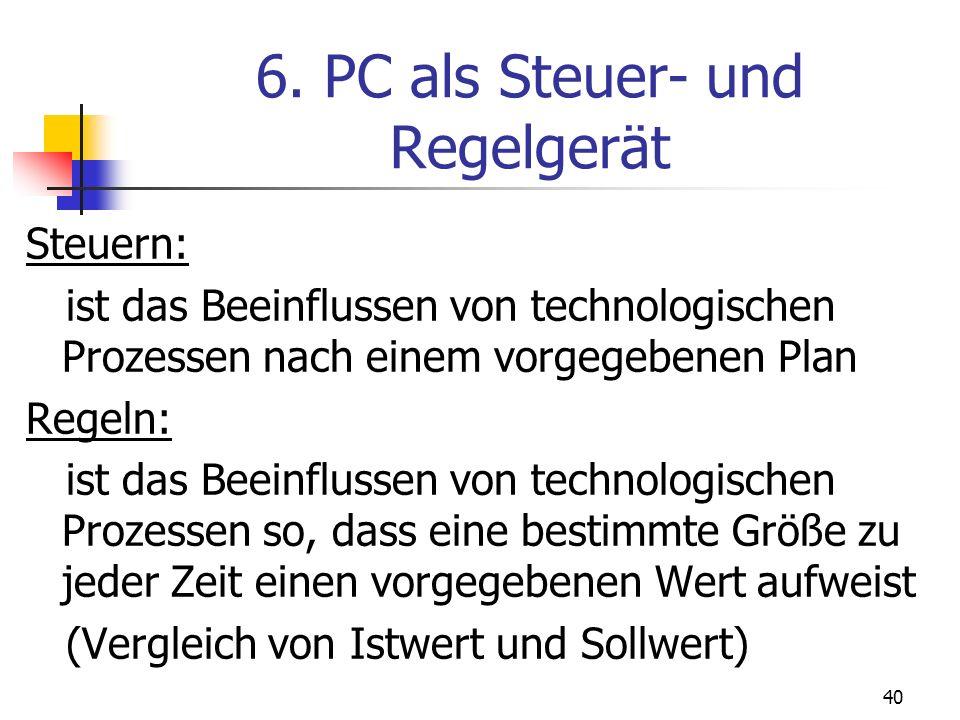6. PC als Steuer- und Regelgerät