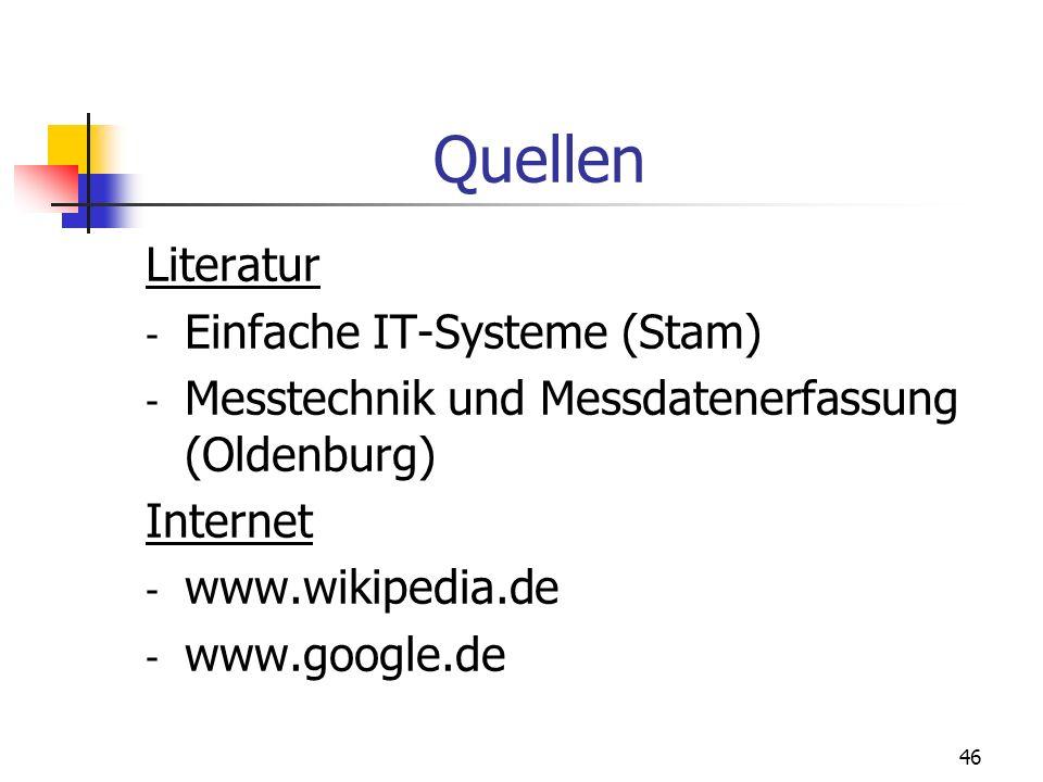 Quellen Literatur Einfache IT-Systeme (Stam)