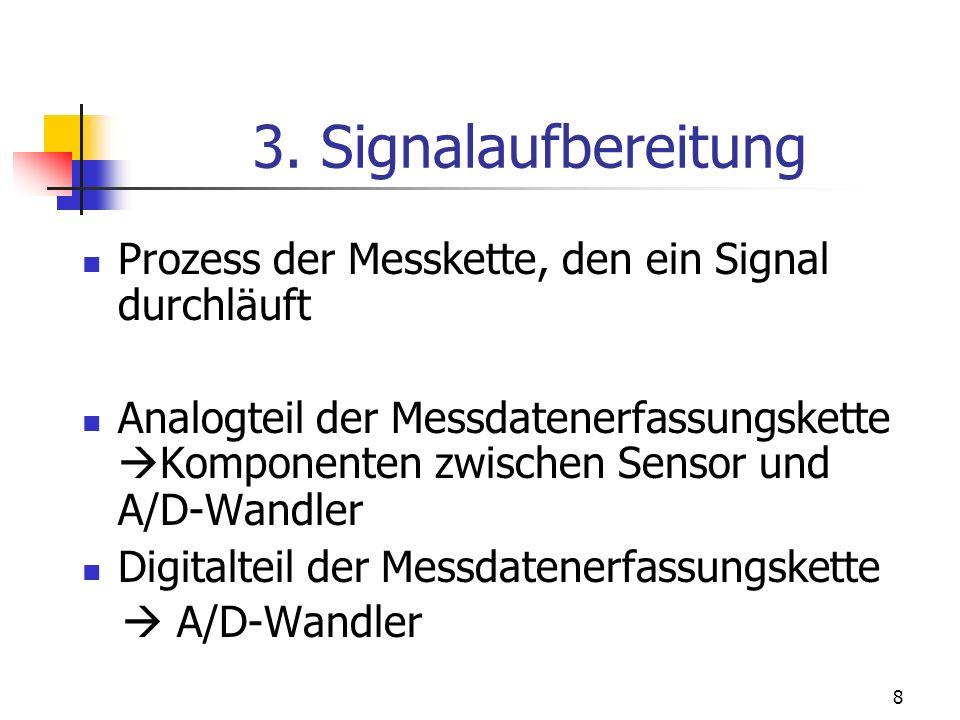 3. Signalaufbereitung Prozess der Messkette, den ein Signal durchläuft
