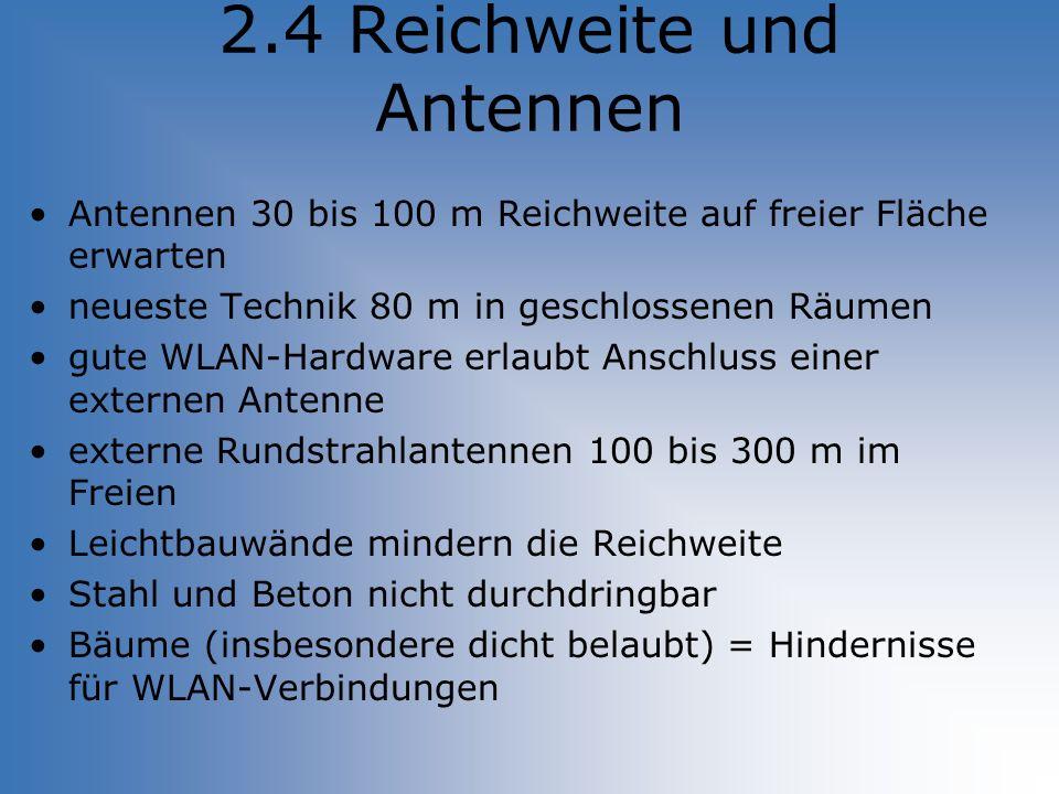 2.4 Reichweite und Antennen