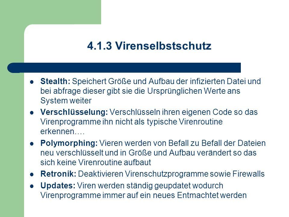 4.1.3 Virenselbstschutz