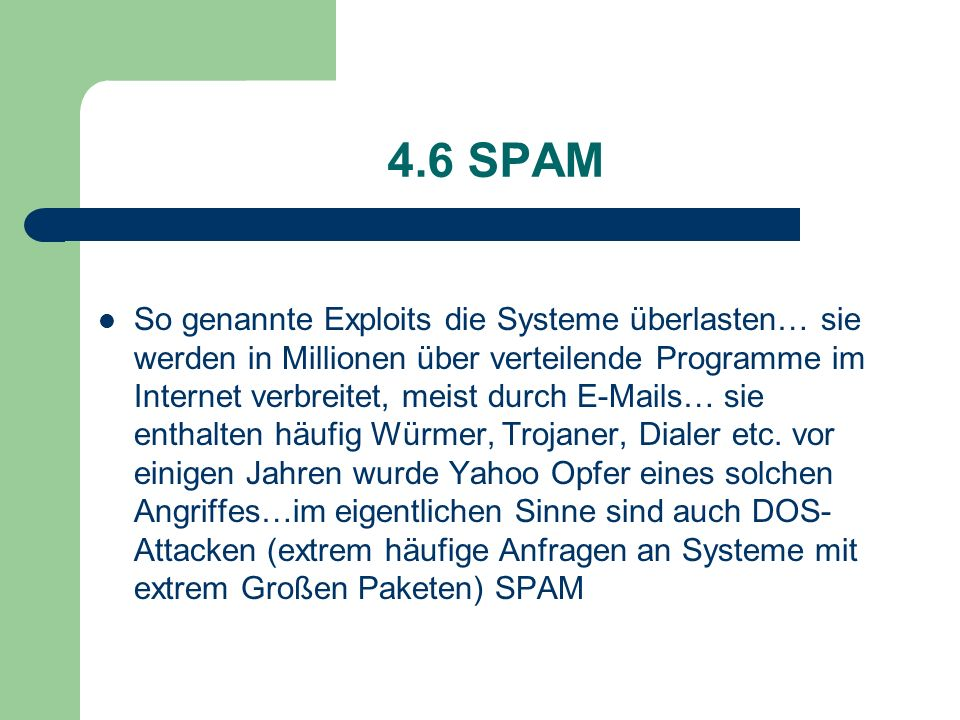 4.6 SPAM
