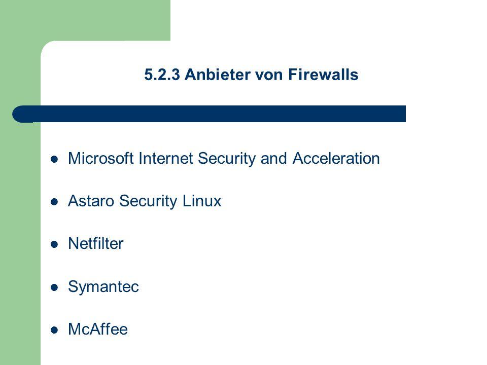 5.2.3 Anbieter von Firewalls