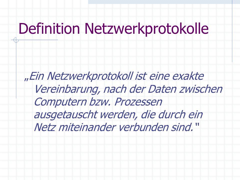 Definition Netzwerkprotokolle