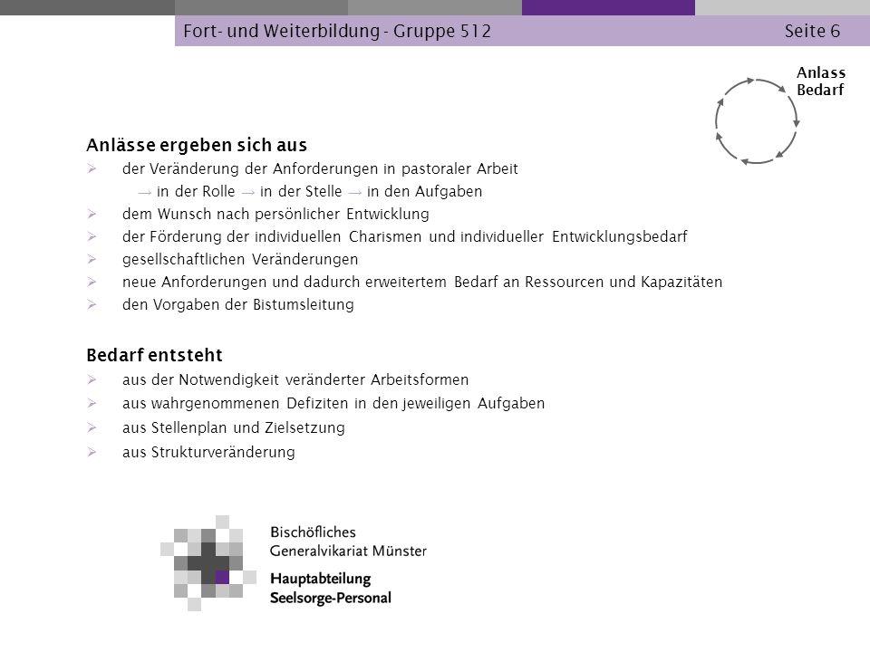 Fort- und Weiterbildung - Gruppe 512