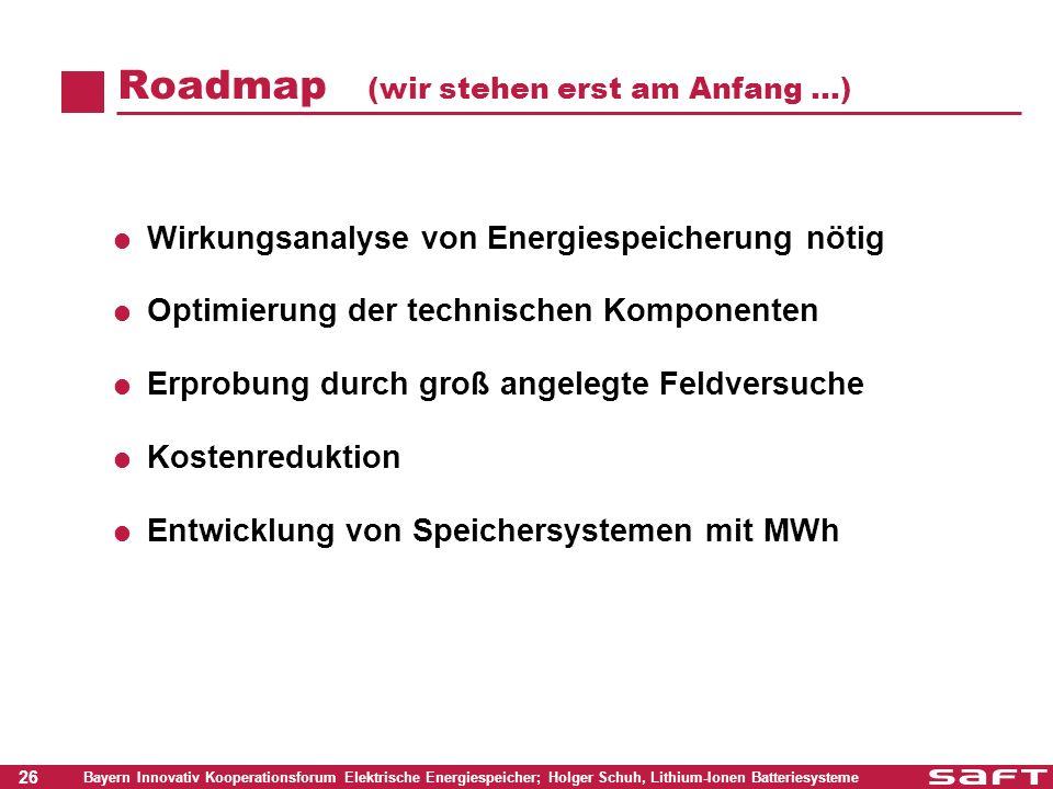 Roadmap (wir stehen erst am Anfang …)