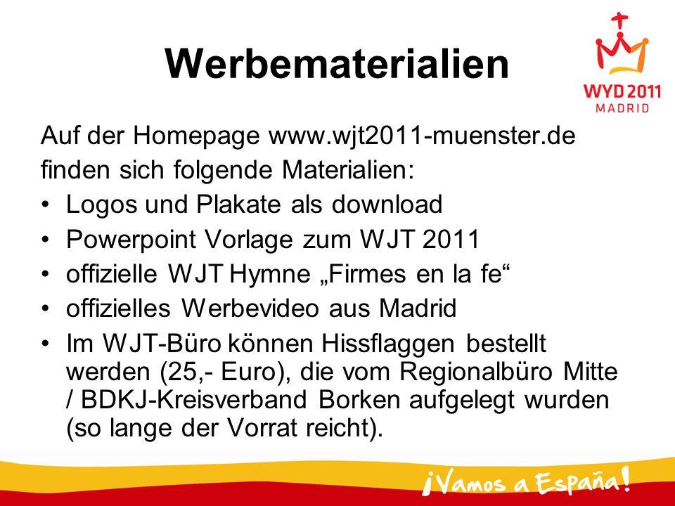 Werbematerialien Auf der Homepage www.wjt2011-muenster.de
