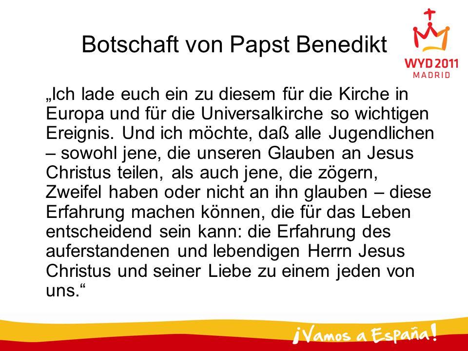 Botschaft von Papst Benedikt