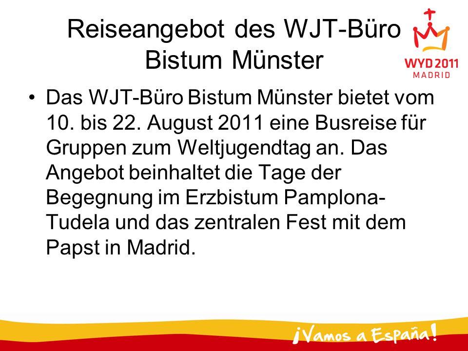 Reiseangebot des WJT-Büro Bistum Münster