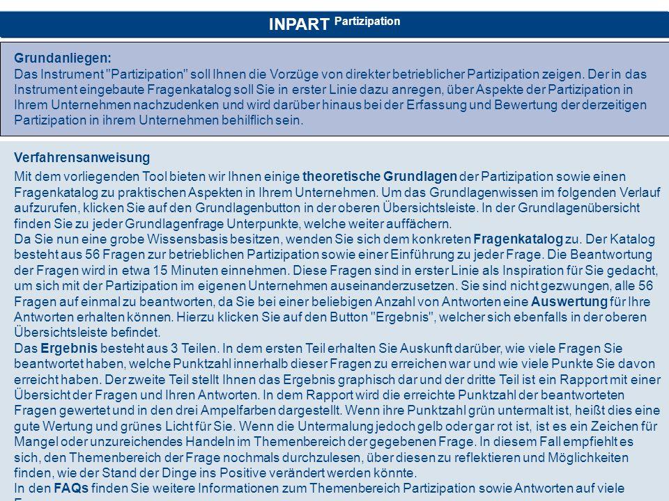 INPART Partizipation Grundanliegen: