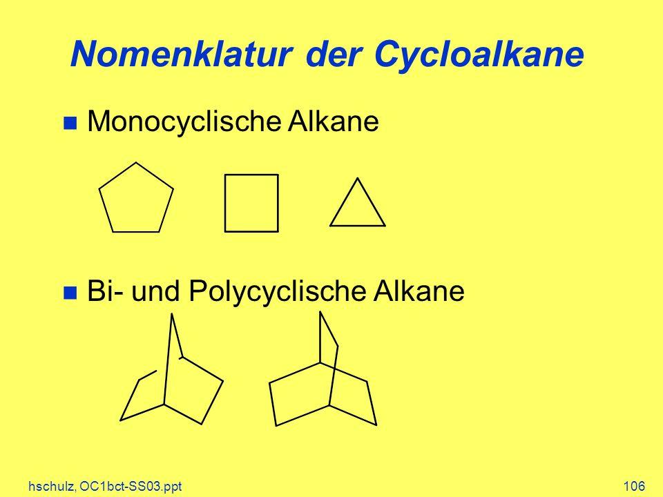 Nomenklatur der Cycloalkane