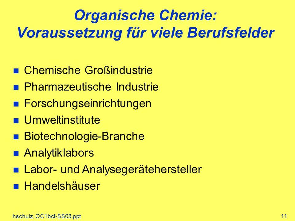Organische Chemie: Voraussetzung für viele Berufsfelder