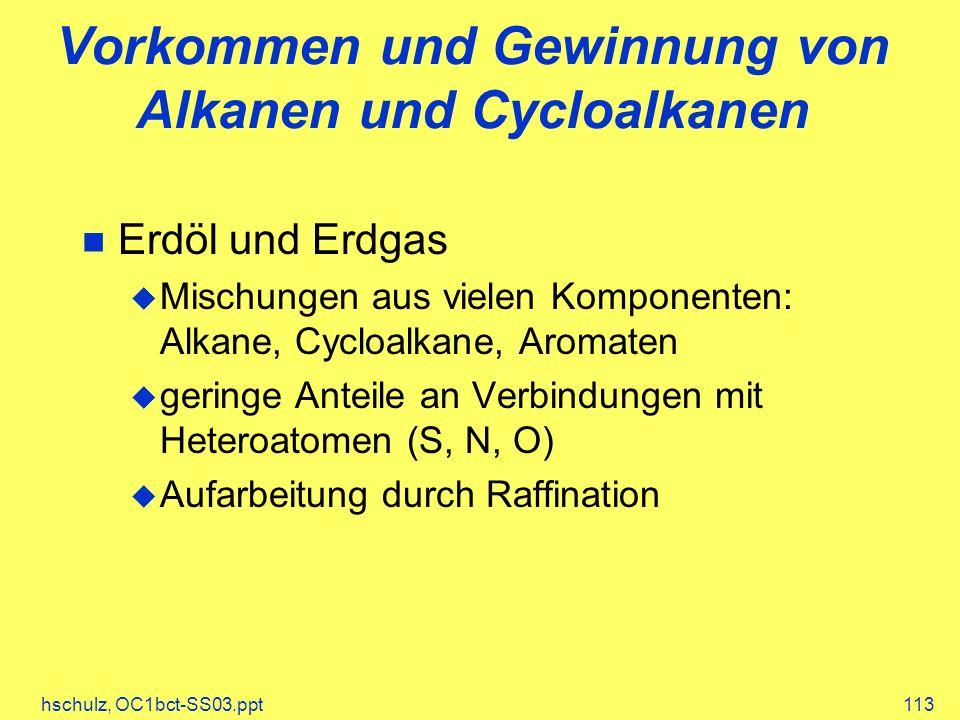 Vorkommen und Gewinnung von Alkanen und Cycloalkanen