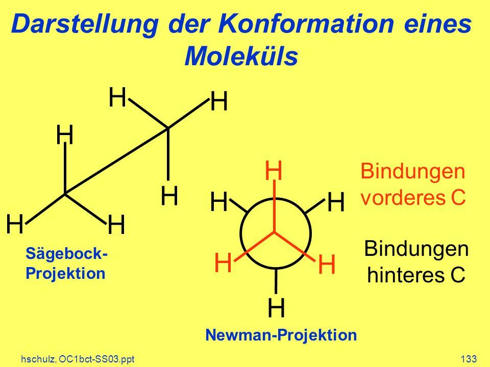 Darstellung der Konformation eines Moleküls