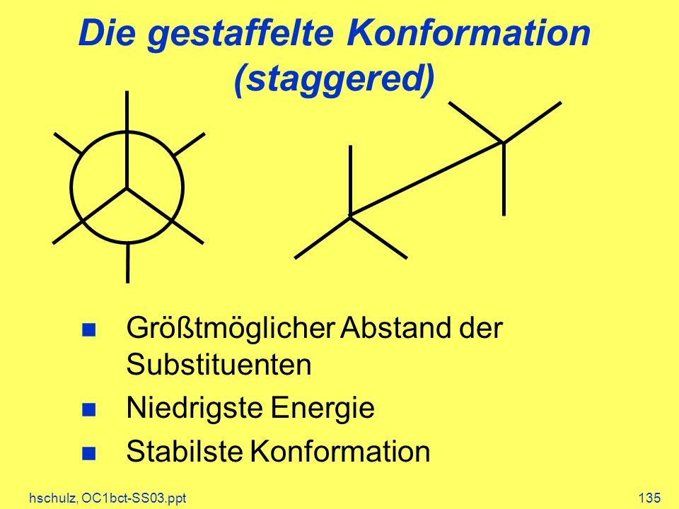 Die gestaffelte Konformation (staggered)