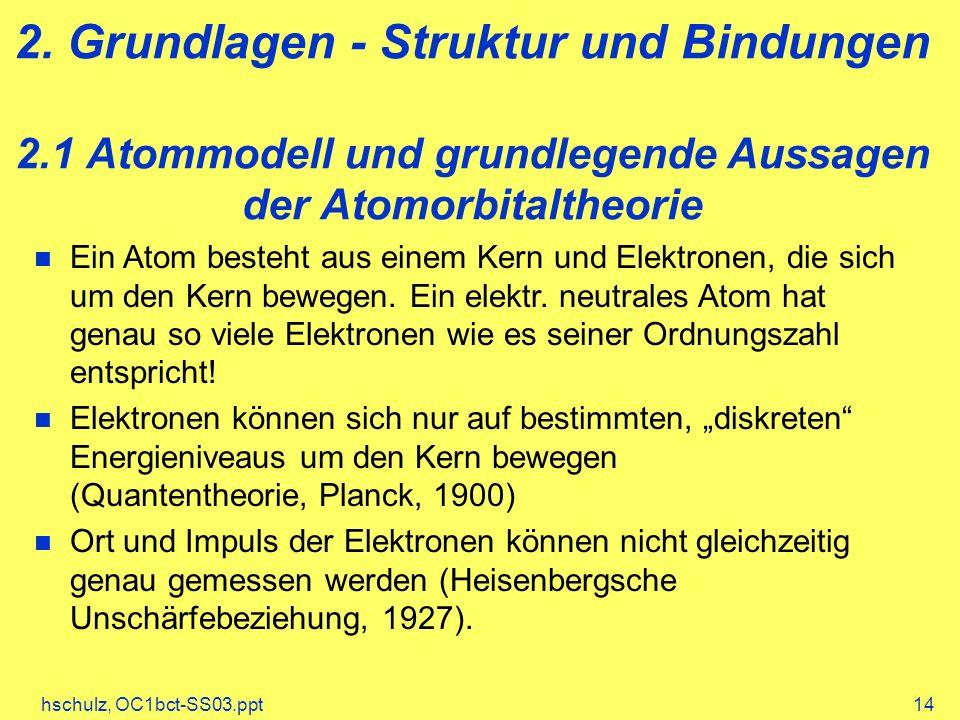 2. Grundlagen - Struktur und Bindungen 2