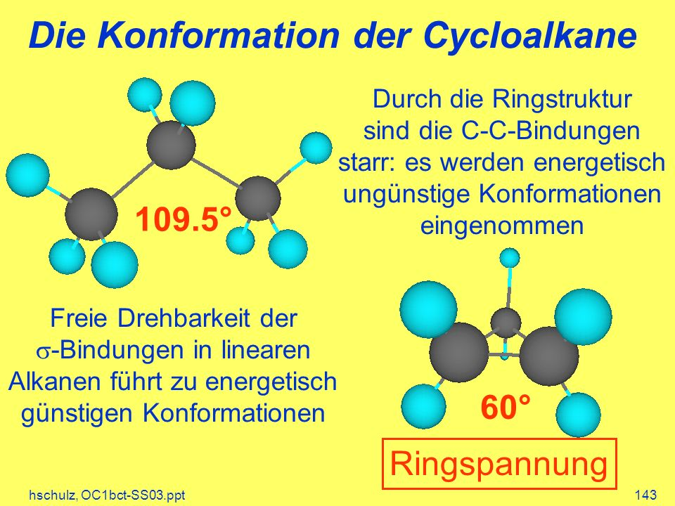Die Konformation der Cycloalkane