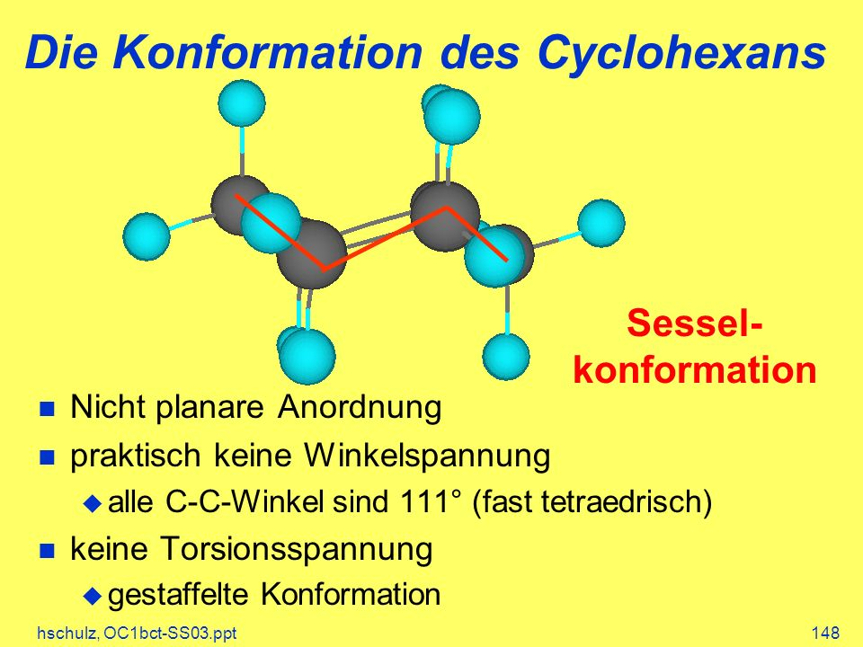 Die Konformation des Cyclohexans