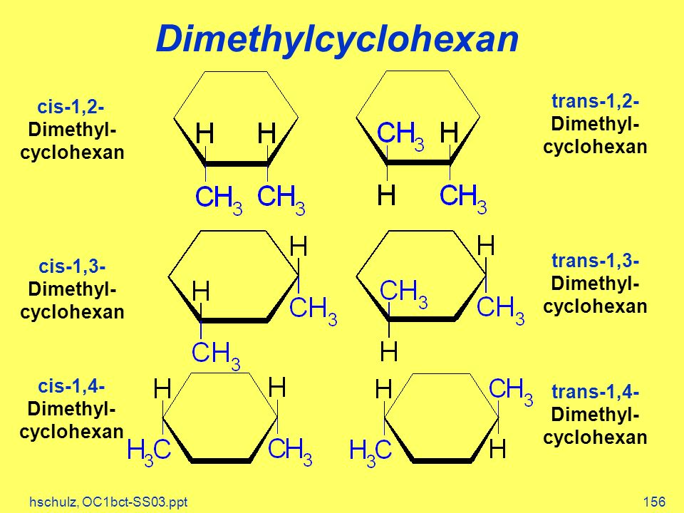 Dimethylcyclohexan trans-1,2- Dimethyl- cis-1,2- Dimethyl- cyclohexan