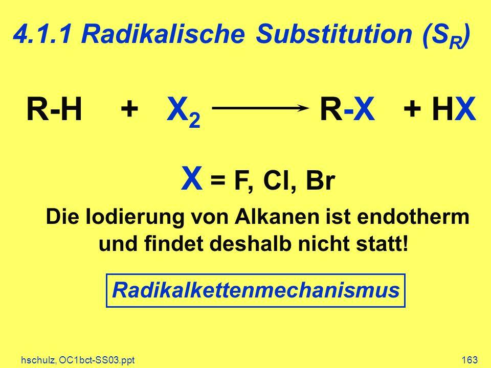 4.1.1 Radikalische Substitution (SR)