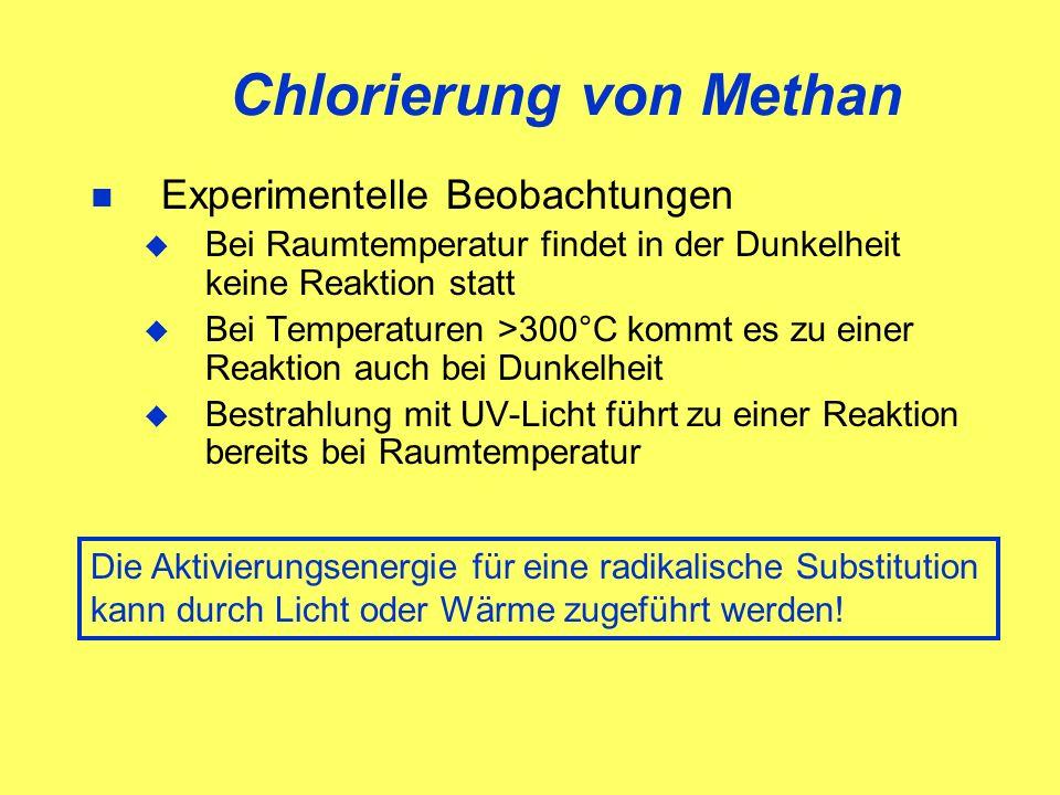Chlorierung von Methan