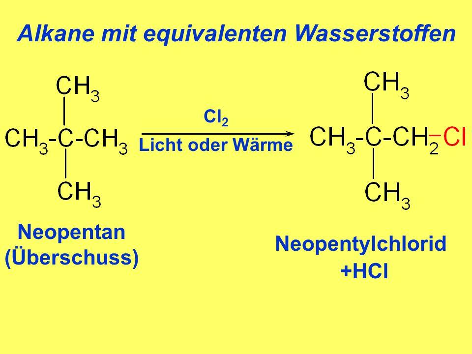 Alkane mit equivalenten Wasserstoffen