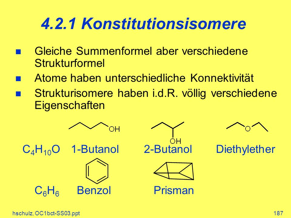 4.2.1 Konstitutionsisomere