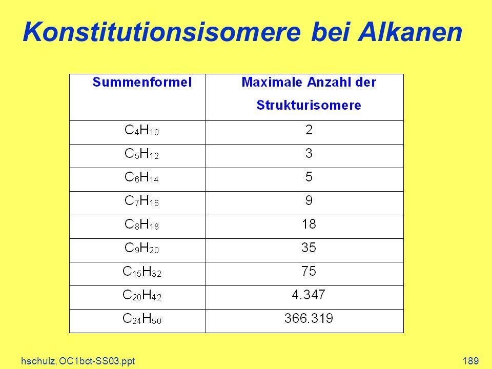 Konstitutionsisomere bei Alkanen