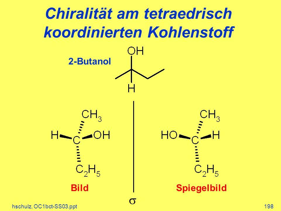 Chiralität am tetraedrisch koordinierten Kohlenstoff