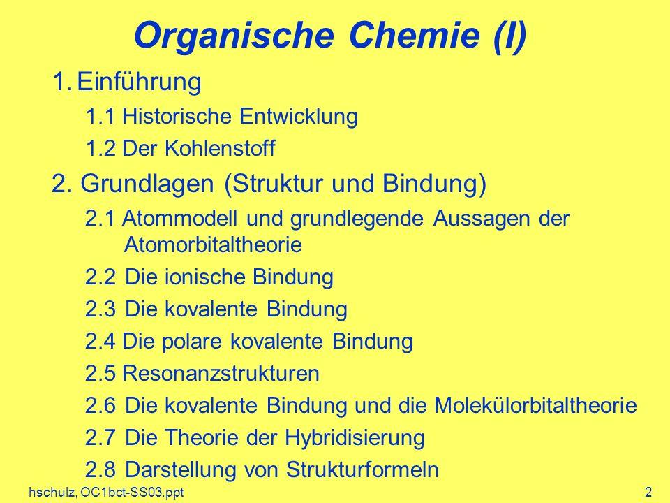 Organische Chemie (I) 1. Einführung