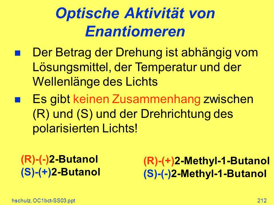 Optische Aktivität von Enantiomeren