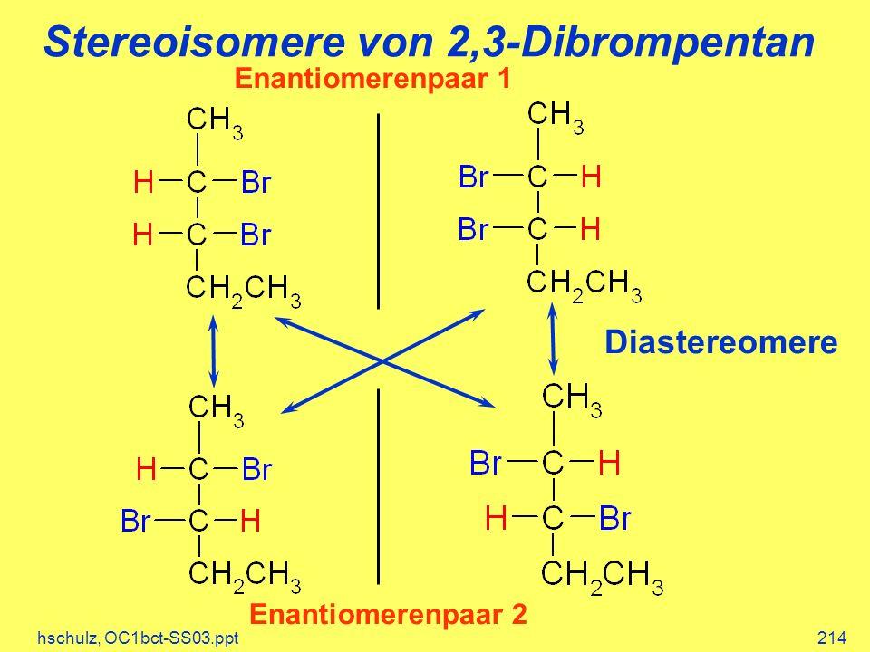 Stereoisomere von 2,3-Dibrompentan
