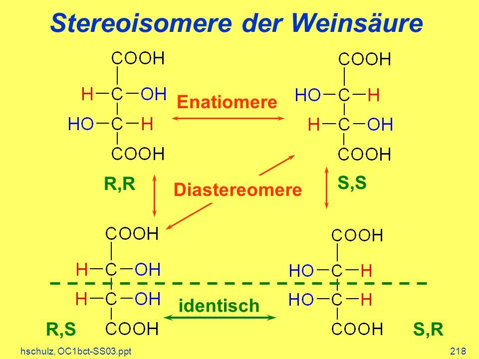 Stereoisomere der Weinsäure