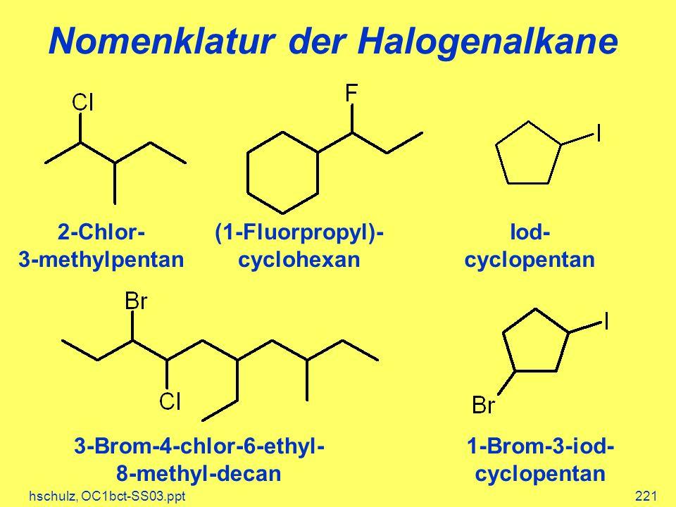 Nomenklatur der Halogenalkane