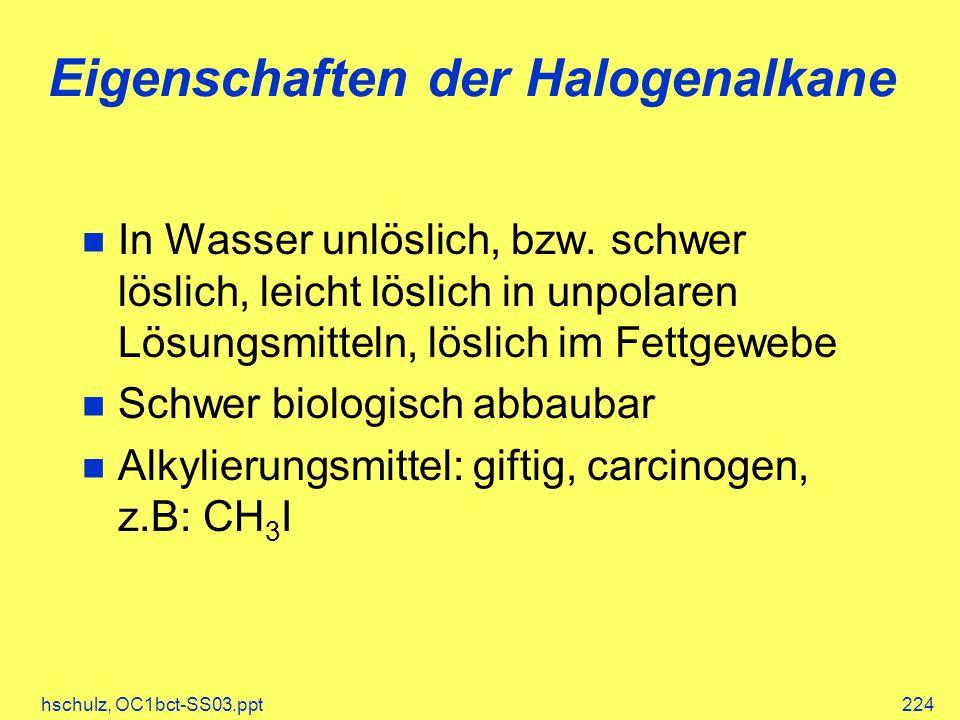 Eigenschaften der Halogenalkane