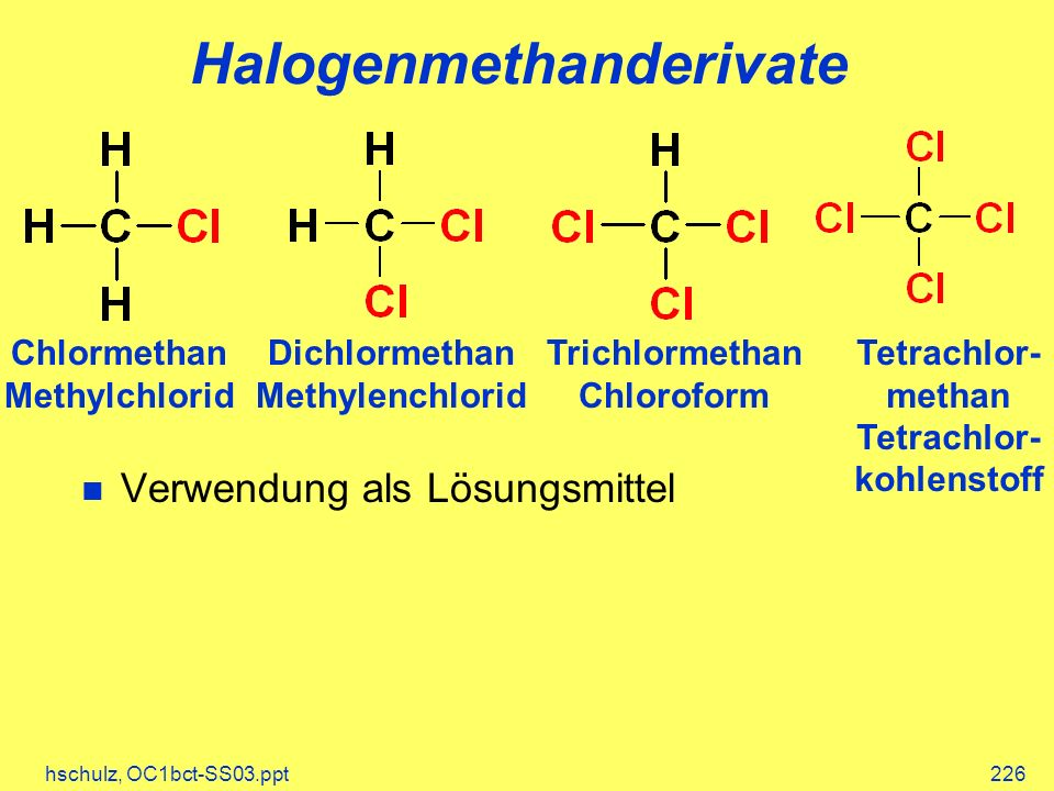 Halogenmethanderivate
