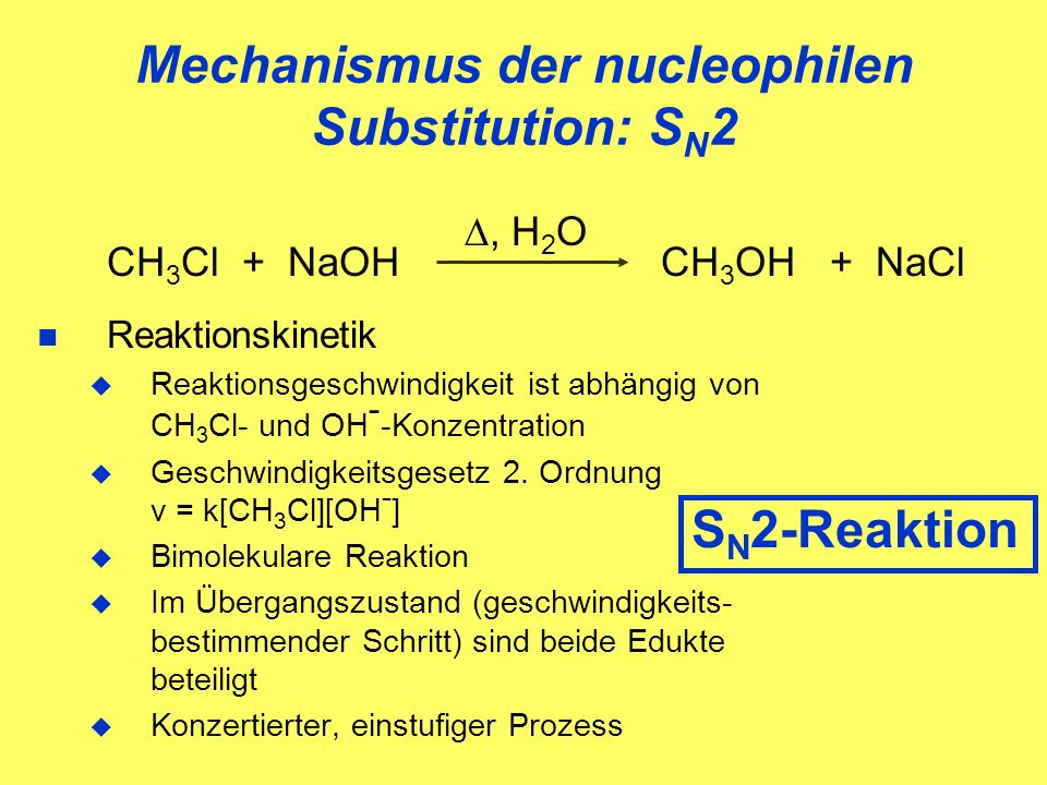 Mechanismus der nucleophilen Substitution: SN2