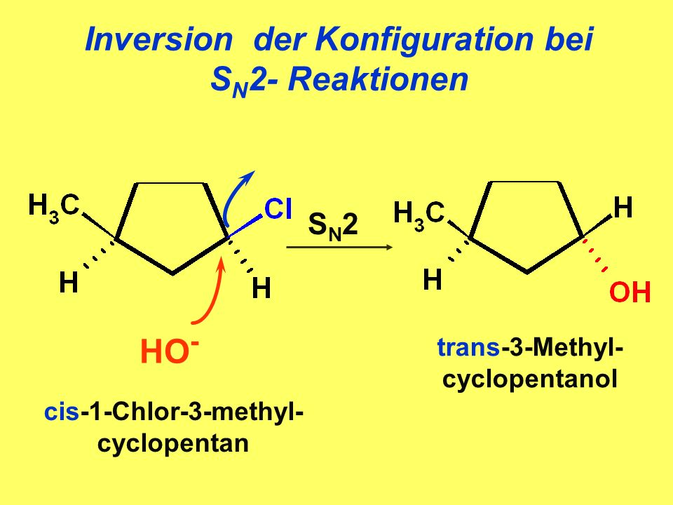Inversion der Konfiguration bei