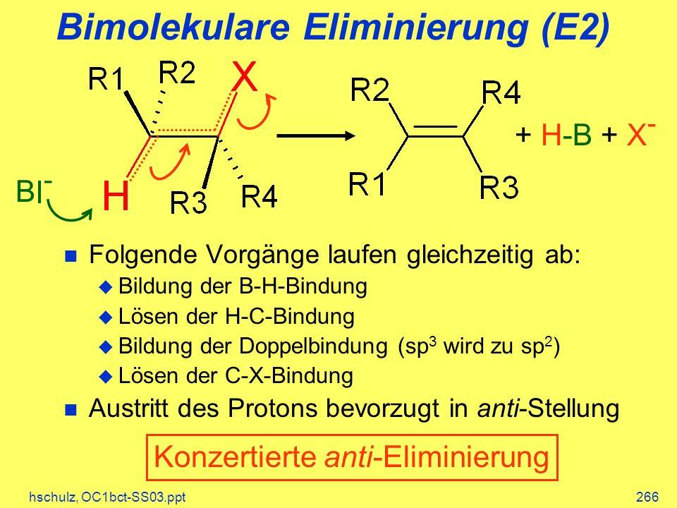 Bimolekulare Eliminierung (E2)